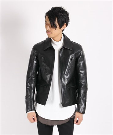 POLAND's HORSE HIDE×GERMAN OIL LEATHER JACKET レザージャケット【MAIN ATTRACTION / メインアトラクション】■SALE■