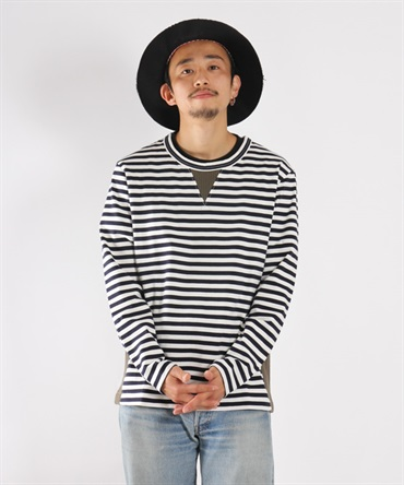 CONFUSED LS BORDER TEE【CURLY / カーリー】■SALE■