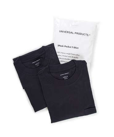 2PACK POCKET T-SHIRT 【 UNIVERSAL PRODUCTS. / ユニバーサル プロダクツ 】