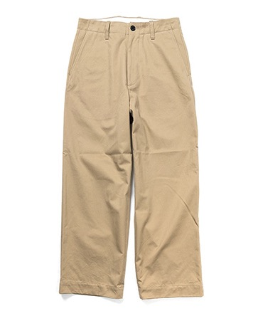 NO TUCK WIDE CHINO TROUSERS 【 UNIVERSAL PRODUCTS. / ユニバーサル プロダクツ 】