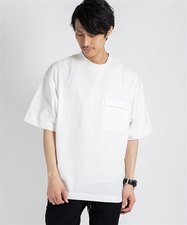 INVERTED PLEATS POCKET T-SHIRT 【 I / アイ 】■SALE■