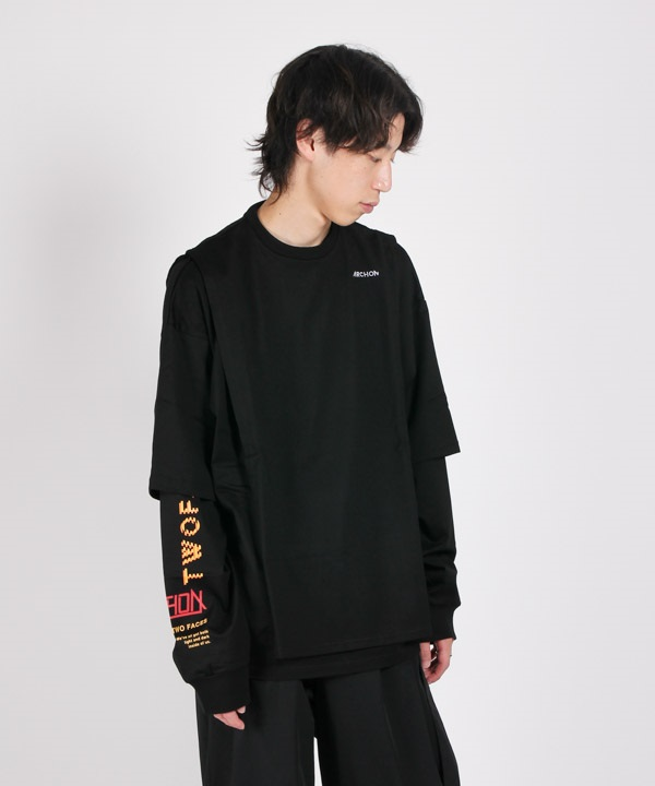 Art PRT Long T-Shirts 【ARCHON/アルコン】(ブラック-M)