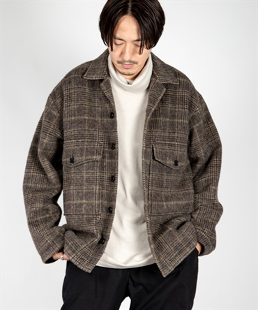 CPO SHIRT - ORGANIC SUFFOLK TWEED SHAGGY 【 MARKAWARE / マーカウェア 】