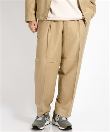 NEW CLASSIC FIT TROUSERS - ORGANIC COTTON X SILK MOLESKIN 【 MARKAWARE / マーカウェア 】