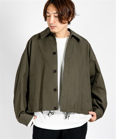 SPORTS JACKET - ORGANIC COTTON HARD OXFORD COATED 【 MARKAWARE / マーカウェア 】