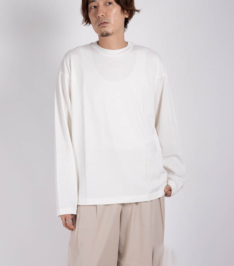 ONESIDE RAGLAN LONG-SLEEVES Tee - ORGANIC PIMA 60//2 SWITZER KNIT 【 MARKAWARE / マーカウェア 】■SALE■