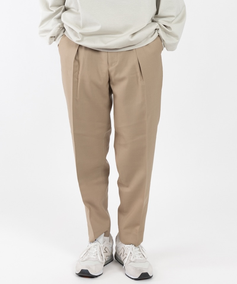 PEGTOP TROUSERS - ORGANIC WOOL TROPICAL 【 MARKAWARE / マーカウェア 】(ベージュ-1)