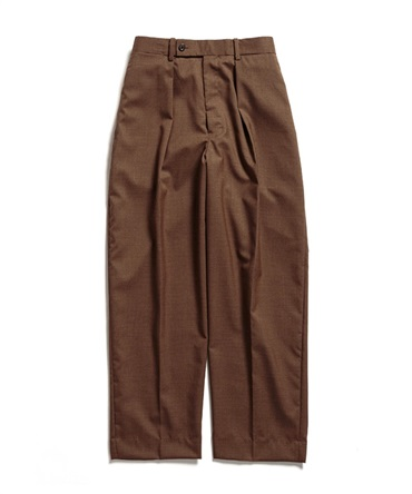 CLASSIC FIT TROUSERS - ORGANIC WOOL TROPICAL 【 MARKAWARE / マーカウェア 】