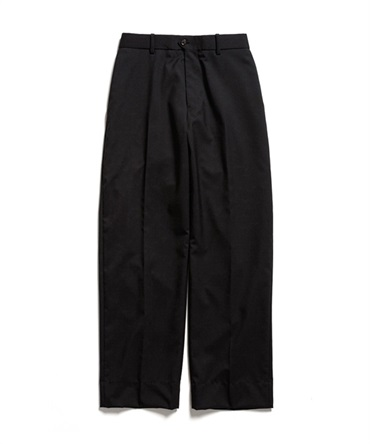 FLAT-FRONT TROUSERS - ORGANIC WOOL TROPICAL 【 MARKAWARE / マーカウェア 】