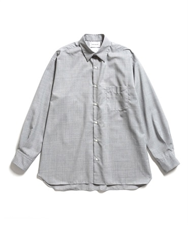COMFORT FIT SHIRT - SUPER 120's WOOL TROPICAL 【 MARKAWARE / マーカウェア 】