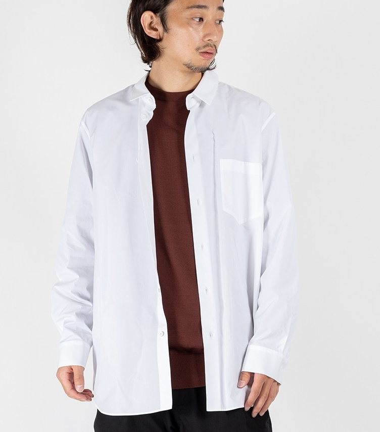 GIZA BROAD OVERSIZED SHIRT 【 ATON / エイトン 】