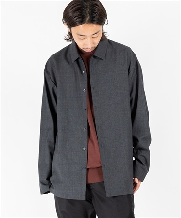 WOOL TROPICAL OVERSIZED WORK SHIRT 【 ATON / エイトン 】