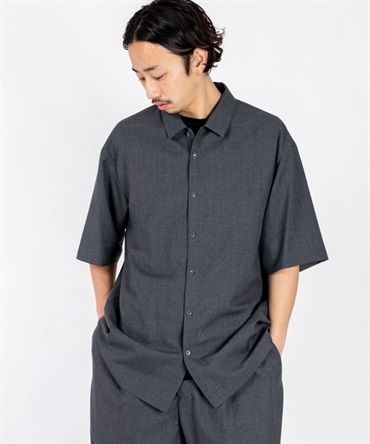 WOOL TROPICAL OVERSIZED SHIRT 【 ATON / エイトン 】