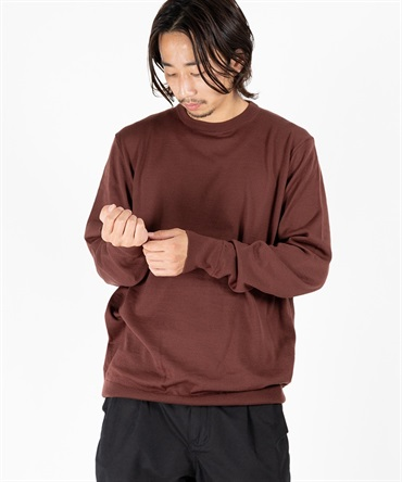 SLOW WOOL CREW NECK PULLOVER 【 ATON / エイトン 】
