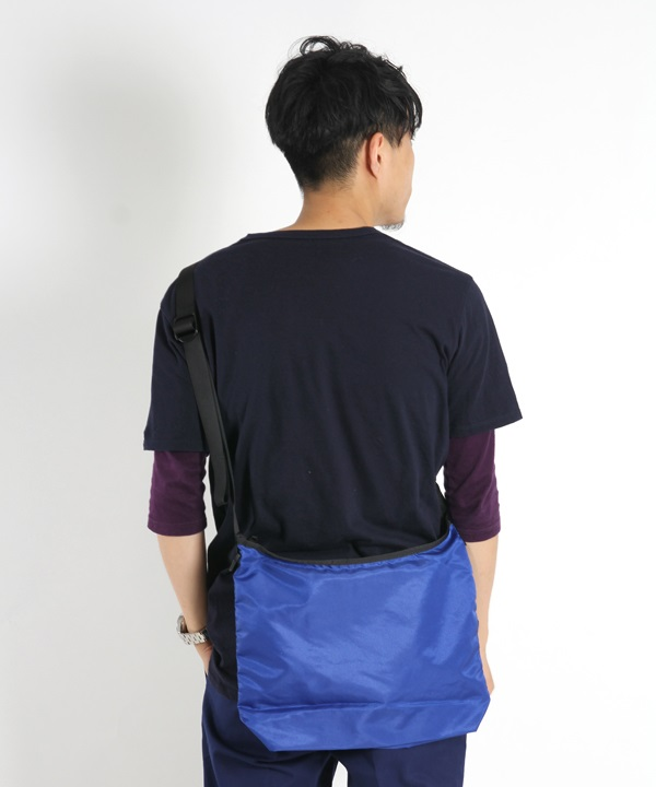 Polyester Ripstop Lightweight Sacoche L■SALE■(ブルー-F)