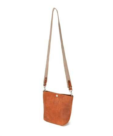 OILED COW LEATHER SHOULDER BAG 【 hobo / ホーボー 】