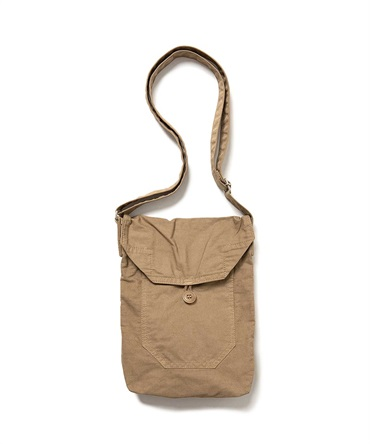 COTTON TWILL COFFEE DYED SHOULDER BAG 【 hobo / ホーボー 】