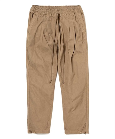 COTTON TWILL COFFEE DYED EASY PANTS 【 hobo / ホーボー 】