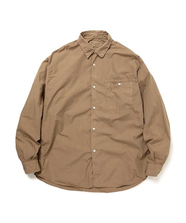 COTTON BROAD COFFEE DYED LS SHIRT 【 hobo / ホーボー 】