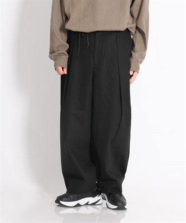 TUCK WIDE PANTS - コンパクト30/2強撚ツイル 【marka / マーカ】■SALE■