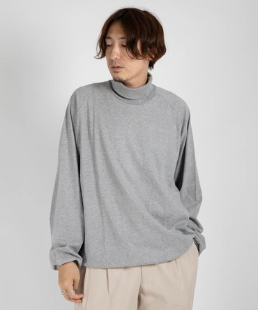 LOOSE NECK - COMBED COTTON KNIT BRUSHED 【 marka / マーカ 】