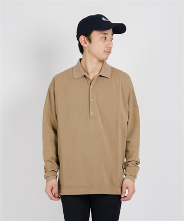 CLERK POLO L/S TEE COTTON PIQUE【nonnative / ノンネイティブ】■SALE■