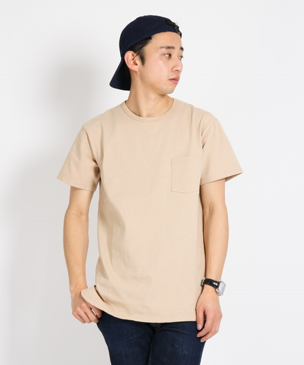 DWELLER S/S TEE COTTON JERSEY HEAVY WEIGHT【nonnative / ノンネイティブ】■SALE■(ベージュ-1)