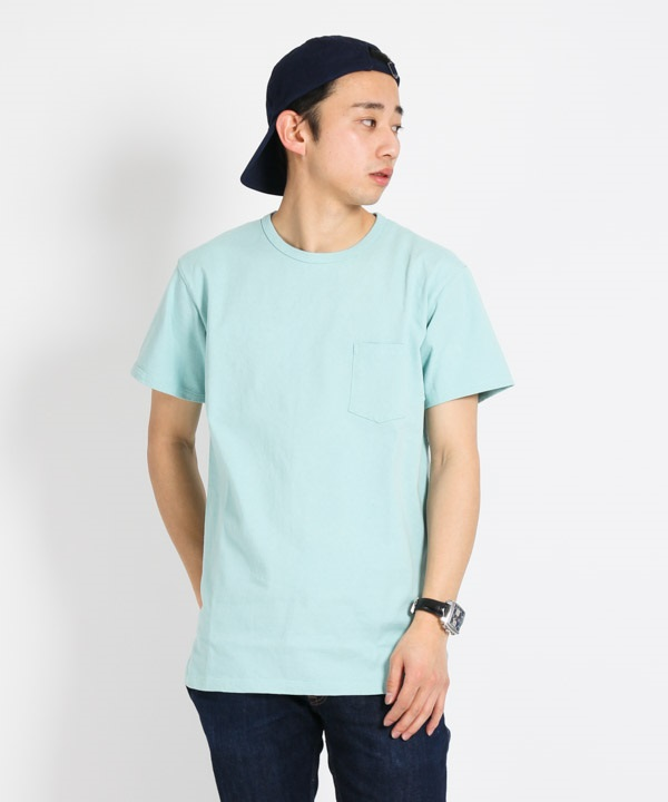 DWELLER S/S TEE COTTON JERSEY HEAVY WEIGHT【nonnative / ノンネイティブ】■SALE■(ブルー-1)