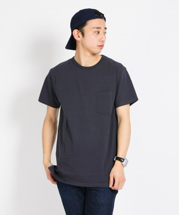 DWELLER S/S TEE COTTON JERSEY HEAVY WEIGHT【nonnative / ノンネイティブ】■SALE■(チャコール-1)