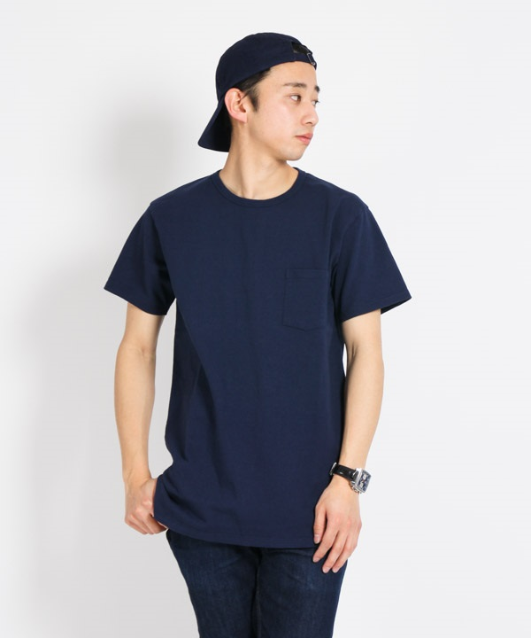 DWELLER S/S TEE COTTON JERSEY HEAVY WEIGHT【nonnative / ノンネイティブ】■SALE■(ネイビー-1)