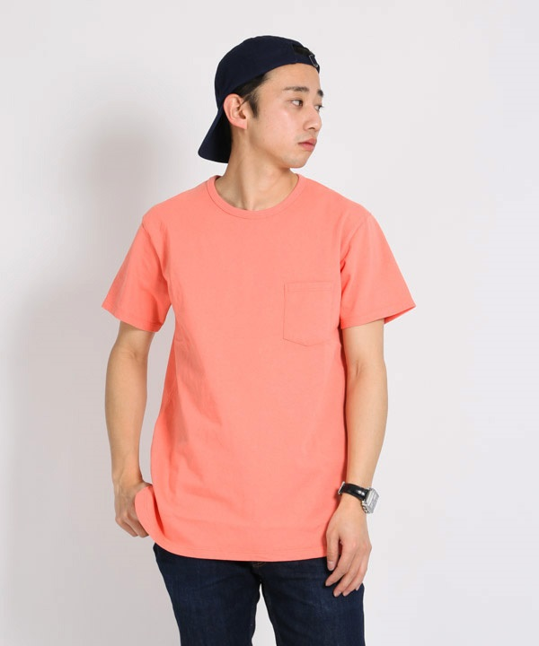 DWELLER S/S TEE COTTON JERSEY HEAVY WEIGHT【nonnative / ノンネイティブ】■SALE■(ピンク-1)