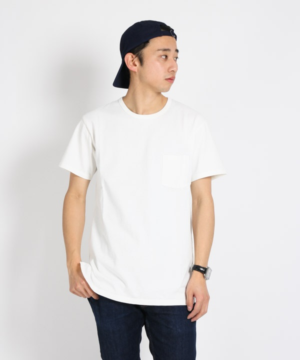 DWELLER S/S TEE COTTON JERSEY HEAVY WEIGHT【nonnative / ノンネイティブ】■SALE■(ホワイト-1)