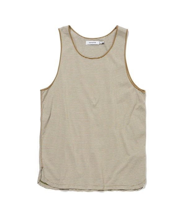 DWELLER TANK TOP COTTON JERSEY BORDER 【nonnative / ノンネイティブ】■SALE■(ベージュ-1)