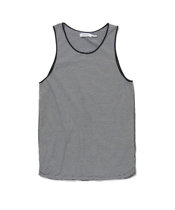 DWELLER TANK TOP COTTON JERSEY BORDER 【nonnative / ノンネイティブ】■SALE■(ブラック-1)