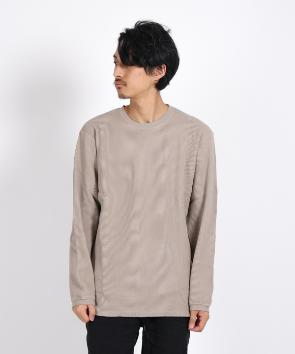 DWELLER L/S TEE C/P THERMAL 【nonnative / ノンネイティブ】(ベージュ-1)
