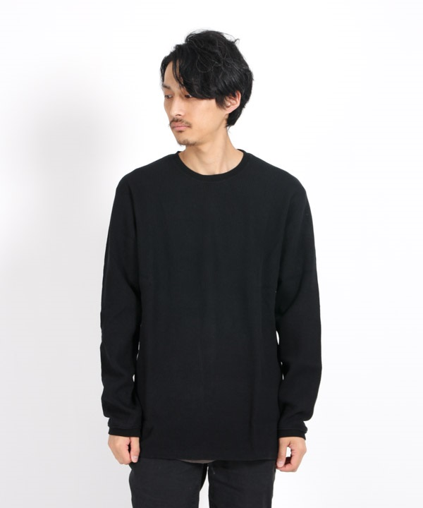 DWELLER L/S TEE C/P THERMAL 【nonnative / ノンネイティブ】(ブラック-1)