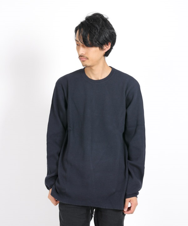 DWELLER L/S TEE C/P THERMAL 【nonnative / ノンネイティブ】(ネイビー-1)