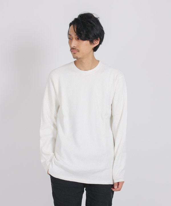 DWELLER L/S TEE C/P THERMAL 【nonnative / ノンネイティブ】(ホワイト-1)