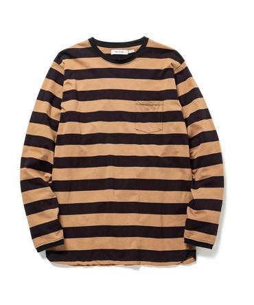 DWELLER L/S TEE COTTON JERSEY WIDE BORDER 【nonnative / ノンネイティブ】■SALE■