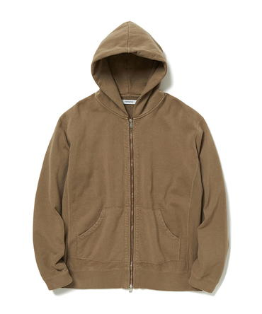 DWELLER FULL ZIP HOODY COTTON SWEAT OVERDYED 【 nonnative / ノンネイティブ 】