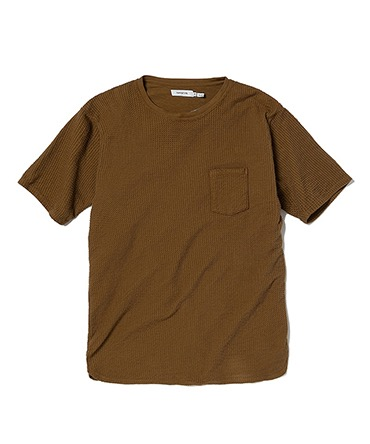 DWELLER S/S TEE COTTON WAFFLE OVERDYED 【 nonnative / ノンネイティブ 】