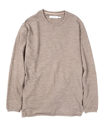 DWELLER L/S TEE W/N/P HEAVY JERSEY Mt.Breath Wool® 【 nonnative / ノンネイティブ 】
