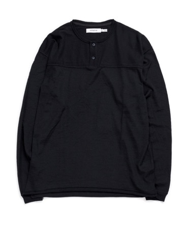 HUNTER HENLEY NECK L/S TEE WOOL JERSEY Mt.Breath Wool 【 nonnative / ノンネイティブ 】
