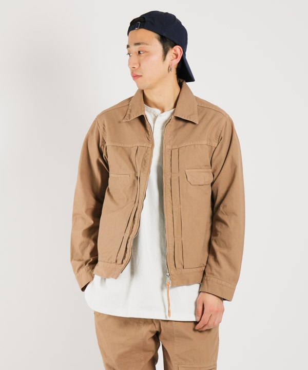 WORKER JACKET COTTON OXFORD OVERDYED【nonnative / ノンネイティブ】■SALE■(ベージュ-1)