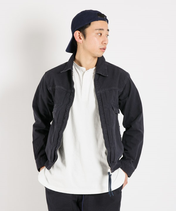 WORKER JACKET COTTON OXFORD OVERDYED【nonnative / ノンネイティブ】■SALE■(ネイビー-1)