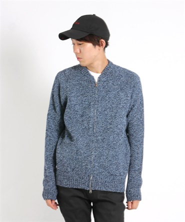 【nonnative】 TOURIST ZIP CARDIGAN SHETLAND WOOL YARN