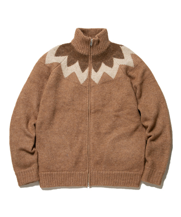 CARPENTER  FULL ZIP SWEATER A/W/N/L YARN【nonnative / ノンネイティブ】