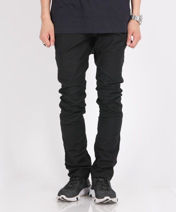 DWELLER 4P JEANS TAPERED FIT C/P BACK SATIN STRETCH【nonnative / ノンネイティブ】(ブラック-1)