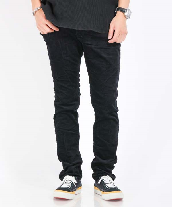 DWELLER 4P JEANS TAPERED FIT C/P/P VELVETEEN STRETCH【nonnative / ノンネイティブ】(ネイビー-1)