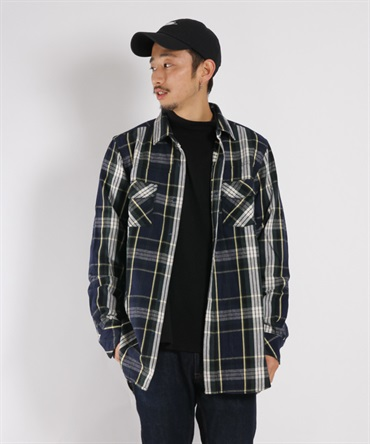 LAWYER LONG SHIRT COTTON TWILL PLAID【nonnative / ノンネイティブ】■SALE■